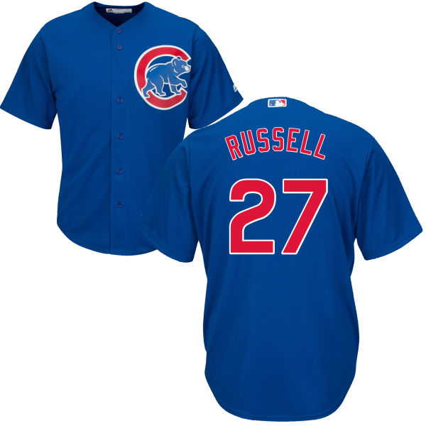 Addison Russell 27 Chicago Cubs Majestic Cool Base Player Jersey - Royal