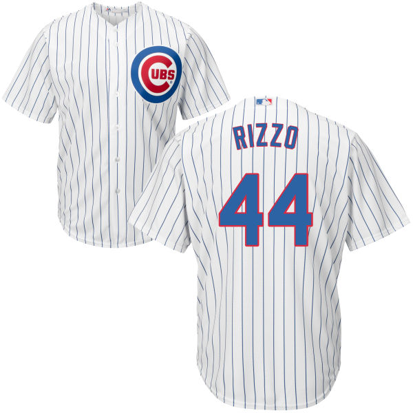 Anthony Rizzo 44 Chicago Cubs Majestic Cool Base Player Jersey - White