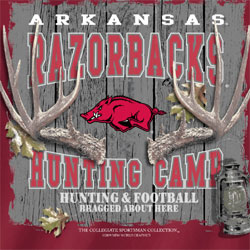 Arkansas Razorbacks T-Shirts - Hunting Camp Football - Bragged About Here