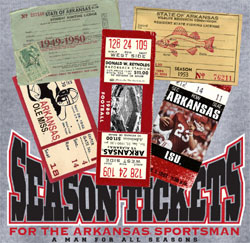 Arkansas Razorbacks Football T-Shirts Season Tickets Lifetime Sportsman