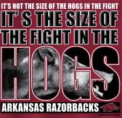 Arkansas Razorbacks Football T-Shirts The Fight In The Hogs