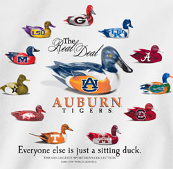 Auburn Tigers T-Shirts - Callin Out The Competition, Everyone else is just sitting duck