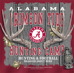Alabama Crimson Tide Football T-Shirts - Hunting Camp - Bragged About Here Tee