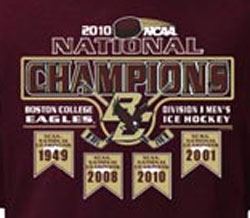 Boston College Eagles Ice Hockey T-Shirts - 2010 National Champions