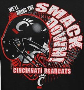 Cincinnati Bearcats Football T-Shirts - We'll Bring The Smack Down