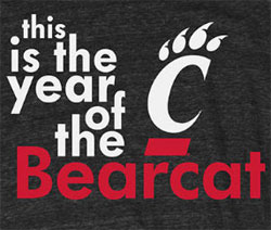 Cincinnati Bearcats Football T-Shirts - The Year Of The Bearcat