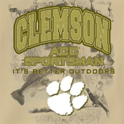Clemson Tigers Football T-Shirts - ACC Sportsman It's Better Outdoors