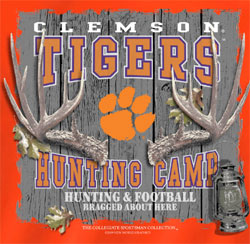 Clemson Tigers T-Shirts - Hunting Camp Football - Bragged About Here