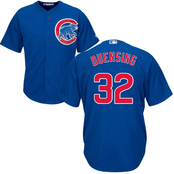 Brian Duensing 32 Chicago Cubs Majestic Cool Base Custom Jersey - Royal