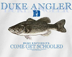 Duke Blue Devils Football T-Shirts - Duke Angler - Come Get Schooled