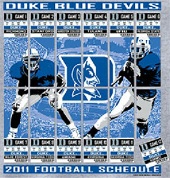 Duke Blue Devils Football T-Shirts - 2011 Tickets To Glory