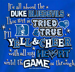 Duke Blue Devils Football T-Shirts - Yell & Cheer For Duke
