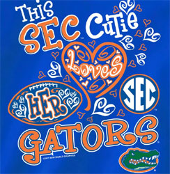Florida Gators Football T-Shirts - Cutie Loves Her Gators