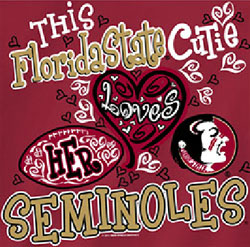 Florida State Seminoles Football T-Shirts - FSU Cutie Loves Her Seminoles