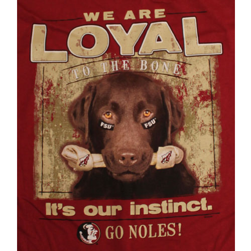 Florida State Seminoles Football T-Shirts - Loyal To The Bone ... 492f71ddb