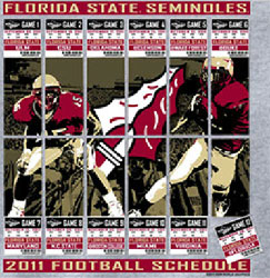 Florida State Seminoles Football T-Shirts - 2011 Schedule Tickets To Glory
