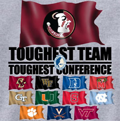 Florida State Seminoles Football T-Shirts - Toughest Teams Flags In ACC