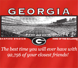 Georgia Bulldogs Football T-Shirts - Welcome To My House - Sanford Stadium