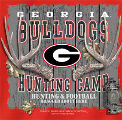 Georgia Bulldogs Football T-Shirts - Hunting Camp - Bragged About Here