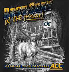 Georgia Tech Yellow Jackets T-Shirts - Best Seat In The House - Deer Hunting