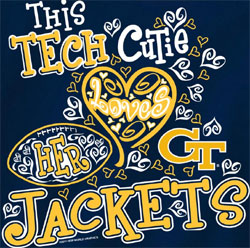 Georgia Tech Yellow Jackets T-Shirts - Tech Cutie Loves Her Jackets