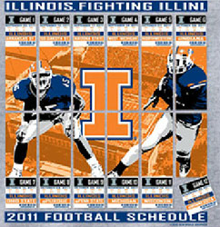 Illinois Fighting Illini Football T-Shirts - 2011 ScheduleTickets To Glory