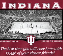 Indiana Hoosiers Basketball T-Shirts - Assembly Hall - Best Time Closest Friends