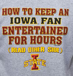Iowa State Cyclones Football T-Shirts - Entertained For Hours