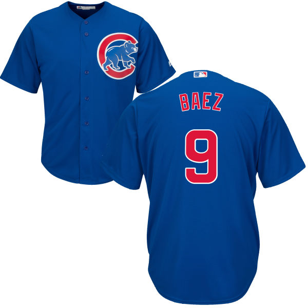 Javier Baez 9 Chicago Cubs Majestic Cool Base Custom Jersey - Royal