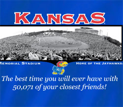 Kansas Jayhawks Football T-Shirts - Welcome To My House Memorial Stadium
