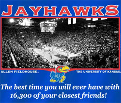 Kansas Jayhawks Basketball T-Shirts - Allen Fieldhouse - Best Time Closest Friends