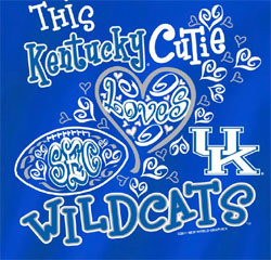 Kentucky Wildcats Football T-Shirts - This Cutie Loves UK Wildcats