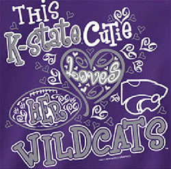 Kansas State Wildcats Football T-Shirts - Cutie Loves Her Wildcats