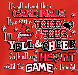 Louisville Cardinals Football T-Shirts - Yell & Cheer For Cardinals