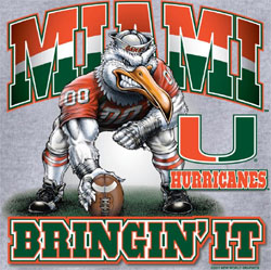 Miami Hurricanes Football T-Shirts - Bringin It