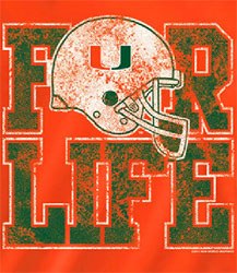 Miami Hurricanes Football T-Shirts - For Life