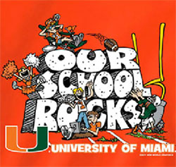 Miami Hurricanes Football T-Shirts - Our School Rocks