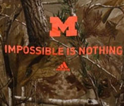 Michigan Wolverines Football T-Shirts - Camo - Impossible Is Nothing By Adidas