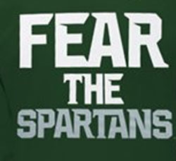 Michigan State Spartans Football T-Shirts - Fear The Spartans - By Nike