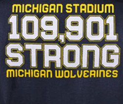 Michigan Wolverines Football T-Shirts - Michigan Stadium Strong - Go Blue