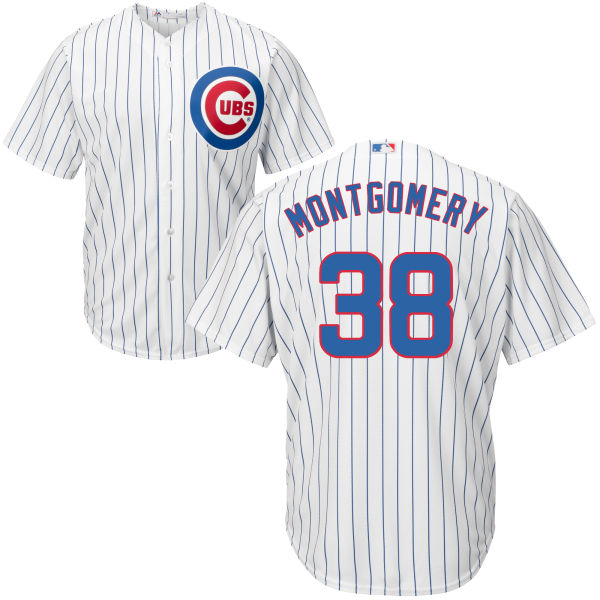 Mike Montgomery 38 Chicago Cubs Majestic Cool Base Player Jersey - White