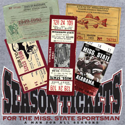 Mississippi State Bulldogs Football T-Shirts - Sportsman Season Tickets