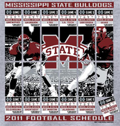 Mississippi State Bulldogs Football T-Shirts - 2011 Schedule Tickets To Glory