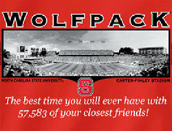 North Carolina State Wolfpack Football T-Shirts - Welcome To My House Carter-Finley Stadium