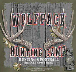 North Carolina State Wolfpack Football T-Shirts - Hunting Camp Football - Bragged About Here