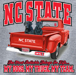 North Carolina State Wolfpack Football T-Shirts - My Dogs My Truck My Team