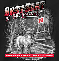 Nebraska Cornhuskers Football T-Shirts - Best Seat In The House - Deer Hunting