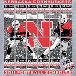 Nebraska Cornhuskers Football T-Shirts - 2011 Football Schedule Tickets