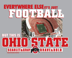 Ohio State Buckeyes Football T-Shirts - Everywhere Else It's Just Football