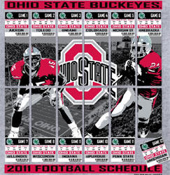 Ohio State Buckeyes Football T-Shirts - 2011 Football Schedule Tickets